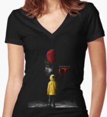 IT - Movie Poster 2017 Women's Fitted V-Neck T-Shirt