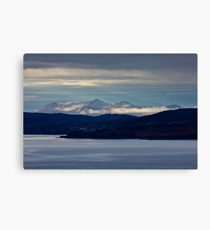 The Cuillins across the Sound Of Sleat Canvas Print