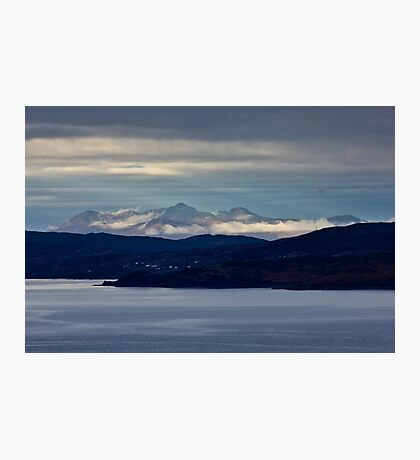The Cuillins across the Sound Of Sleat Photographic Print