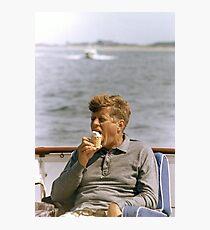JFK Eating Ice Cream Photographic Print