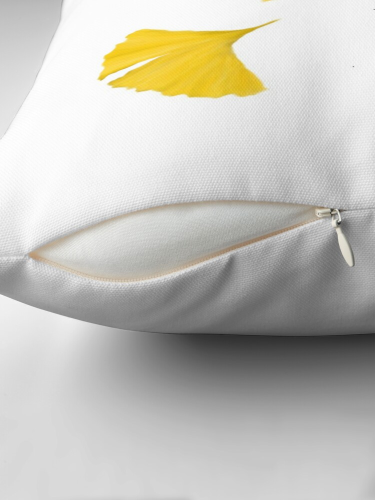 Alternate view of Ginko Leaves Throw Pillow