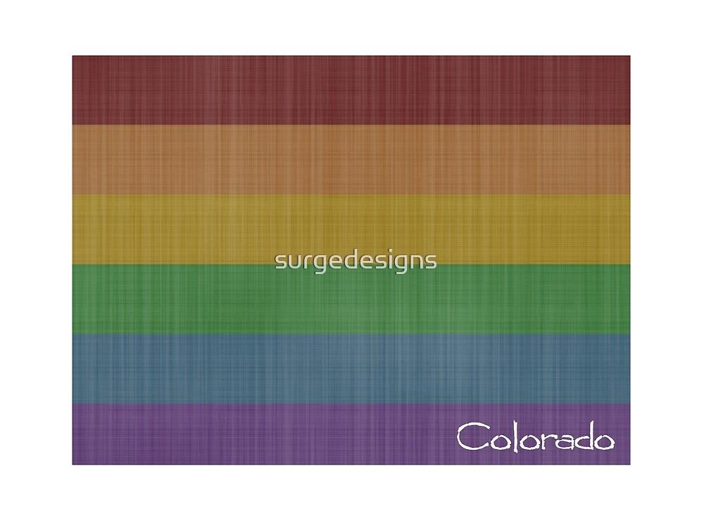 Colorado  Rainbow Gay Pride by surgedesigns