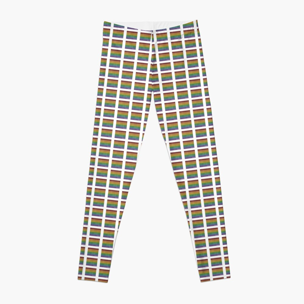 Colorado  Rainbow Gay Pride Leggings Front