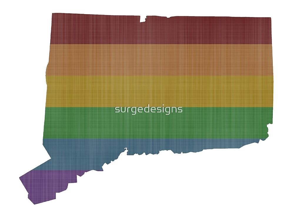 Connecticut Rainbow Gay Pride by surgedesigns
