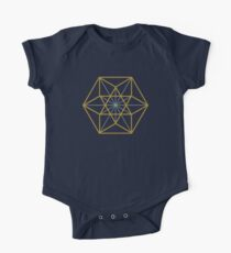 Cuboctahedron, Structur of Universe, Sacred Geometry One Piece - Short Sleeve