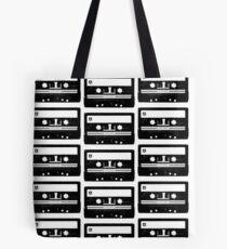 Cassette Tape Pattern White Tote Bag