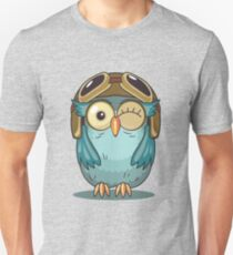 Owl with Pilot Cap and Goggles T-Shirt