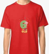 Six Years old sixth Birthday Party R7oge Classic T-Shirt