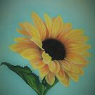 A Single Sunflower by Pam Humbargar