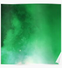 GALAXY OR FIREWORKS GREEN Poster