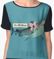 Save the Sharks Chiffon Top