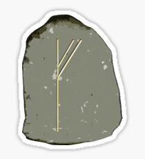 Fehu Wealth Rune Sticker