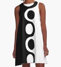 Black White Mod A-Line Dress