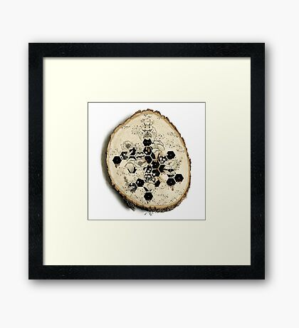 Space Bee Framed Print