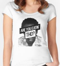 Childish Gambino- Are You Eatin' Tho? Women's Fitted Scoop T-Shirt