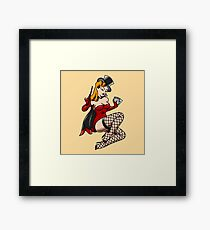 Traditional Magician Girl Pin-up Framed Print