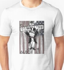 Wall St. Crucifix with American Flag Unisex T-Shirt