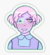 Drooling Pastel Girl Sticker