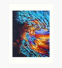 Wave Painting Art Print