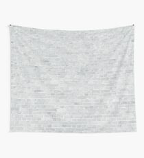 Whitewashed Brick Wall - Light White Wash Stone Brick Wall Tapestry