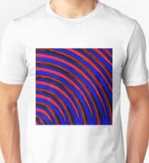 graffiti line drawing abstract pattern in red blue and black Unisex T-Shirt
