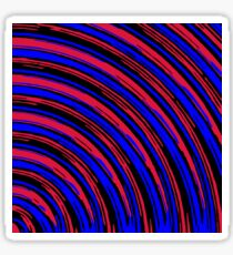 graffiti line drawing abstract pattern in red blue and black Sticker