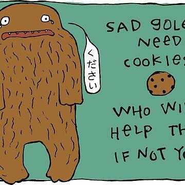 Sad Golems Need Cookies by fishcakes