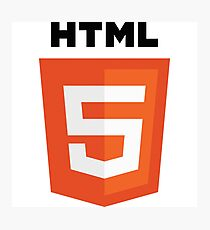 HTML 5 programming language logo Photographic Print