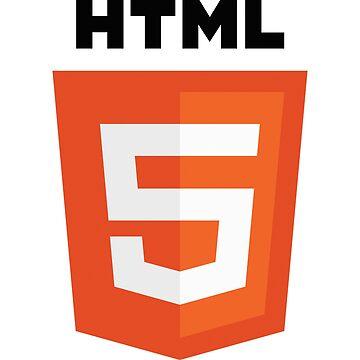 HTML 5 programming language logo by UnitShifter