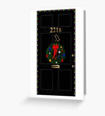 221 Before Christmas - turned knocker Greeting Card