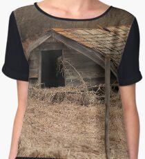 Collapsed Barn Chiffon Top