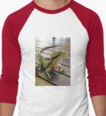 Australian Water Dragon Men's Baseball ¾ T-Shirt