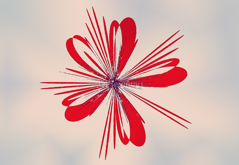 Red Ribbon- Flower by 4Flexiway