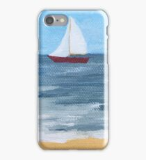 Little red boat iPhone Case/Skin