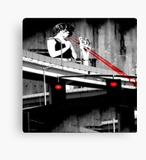 Stop The Freeway Overpass Scales Madness! Canvas Print