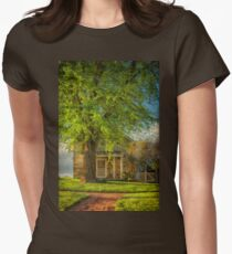 The Stone Cottage On A Spring Evening Womens Fitted T-Shirt