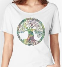 TREE OF LIFE - spring vortex NEW DESIGN Women's Relaxed Fit T-Shirt