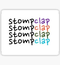 STOMP CLAP Sticker