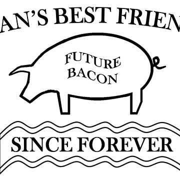 Future Bacon - black design by gruffyjustice