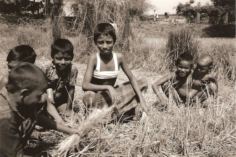 Children working in the fields by hilarydougill