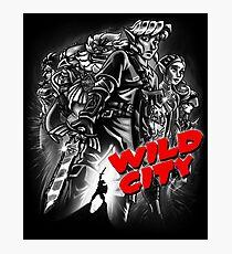 Wild City (B&W) Photographic Print