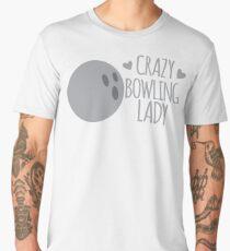 Crazy bowling Lady Men's Premium T-Shirt