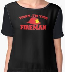 Today, I'm your fireman Chiffon Top