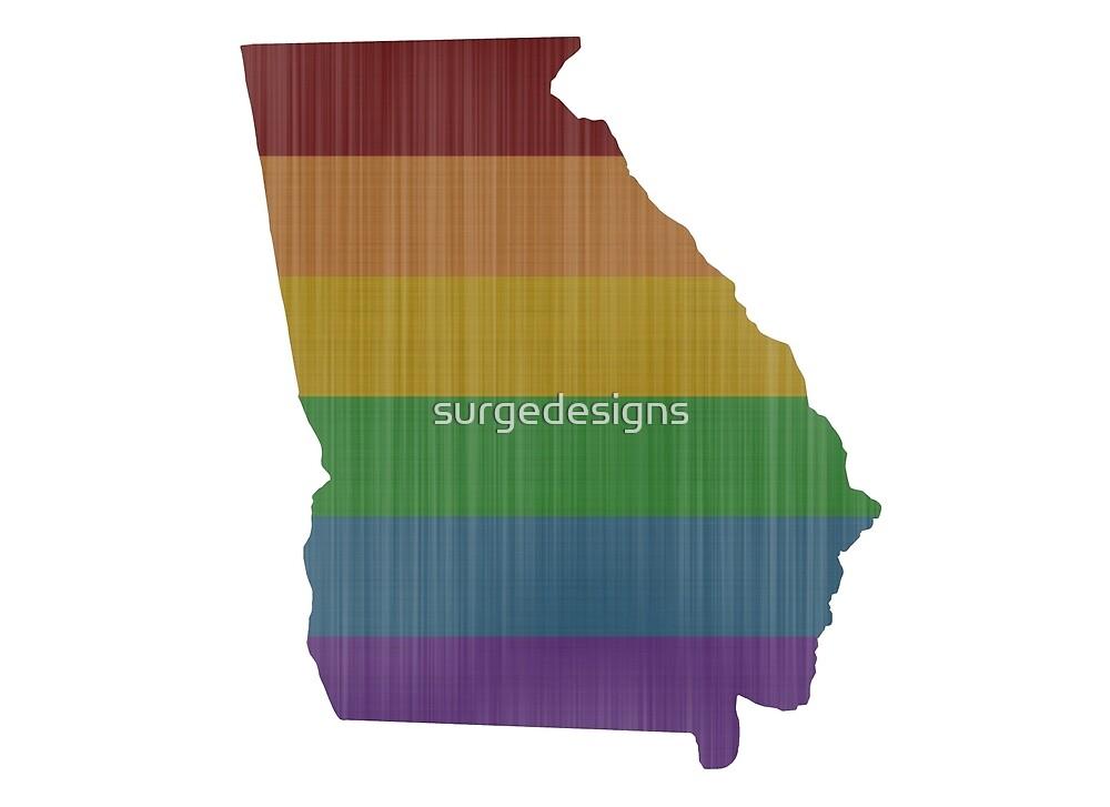 Georgia Rainbow Gay Pride by surgedesigns