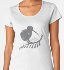 KIWI bird and a SILVER FERN distressed version Women's Premium T-Shirt