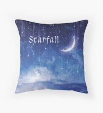ACOMAF Starfall Scene (text) Throw Pillow