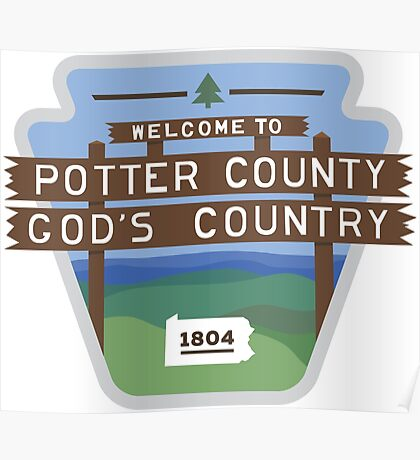Potter County PA Poster