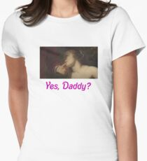 """Yes, Daddy?"" + art (Venus & Adonis) Womens Fitted T-Shirt"