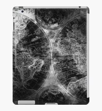 Antique Map Space Stars Black and White iPad Case/Skin
