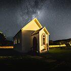 Milkyway over church  by earlcooknz